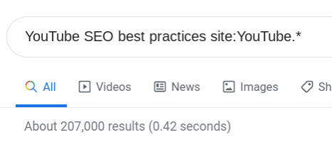 Search for YouTube SEO best practices site:YouTube*