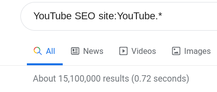 Search for YouTube SEO site:YouTube.*
